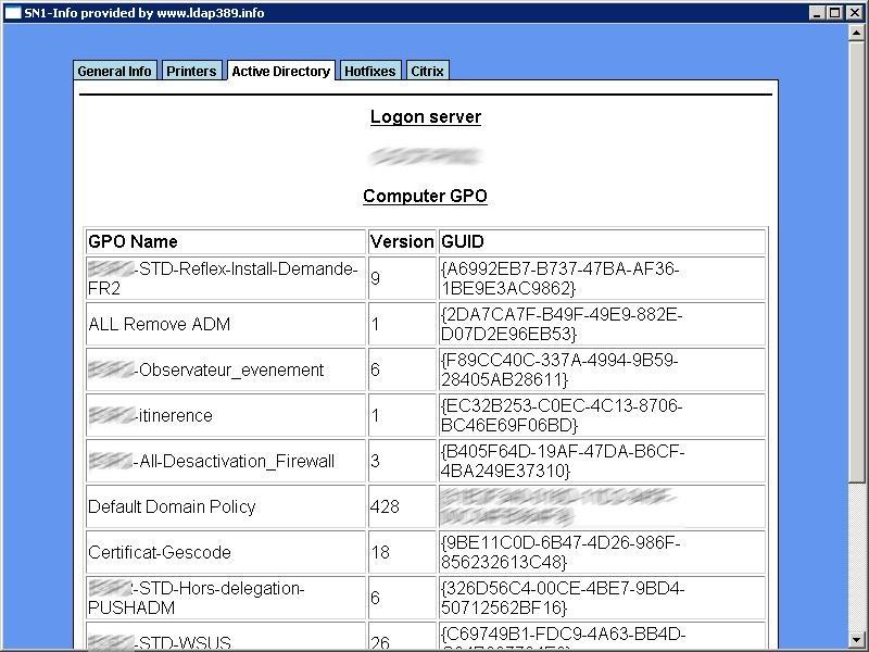 Diagnosis tool for your helpldesk SN1-info v1 0 | ldap389