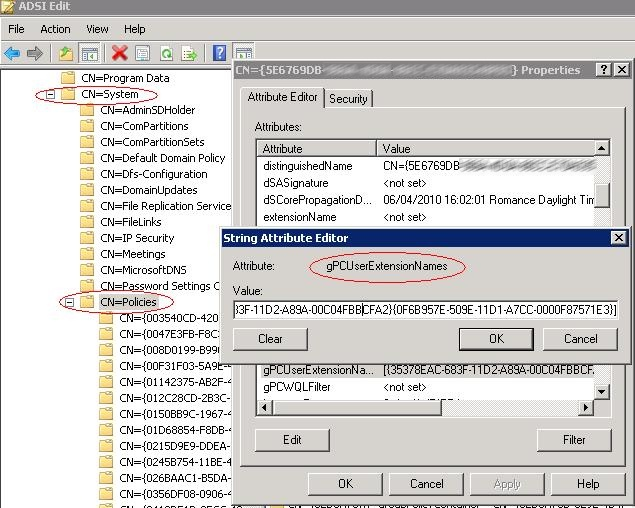 Powershell: Search setting in GPOsldap389ldap389